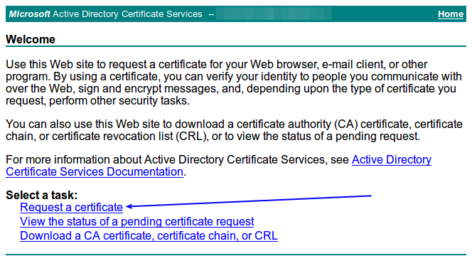 ssl tls signing certificates with a microsoft certificate authority