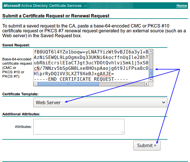 SSL/TLS - Signing Certificates With A Microsoft Certificate Authority